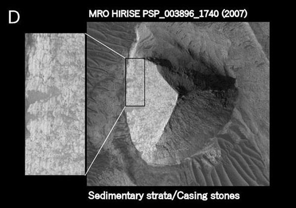 piramide a tre facce su Marte d
