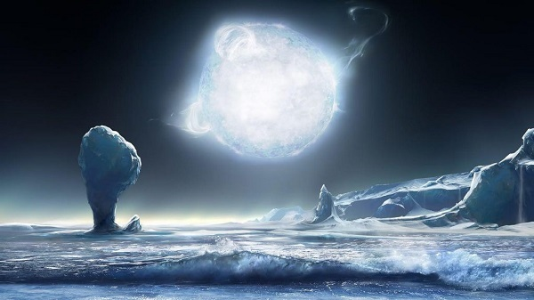 Rappresentazione pianeta alieno trovato da kepler