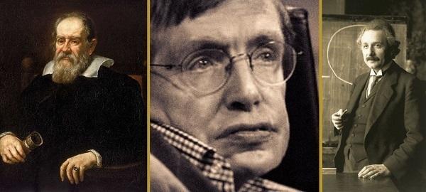 einstein, Galileo e Hawking