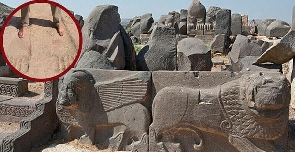 impronte giganti al tempio di ain dara