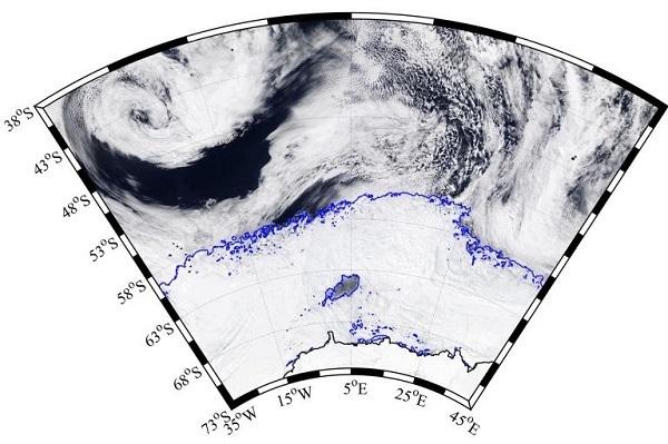antartide massiccio foro nel ghiaccio