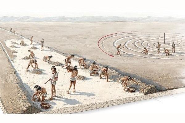 linee di nazca illustrazione costruzione