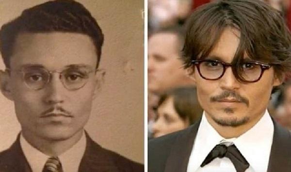 Johnny Depp che viaggia nel tempo