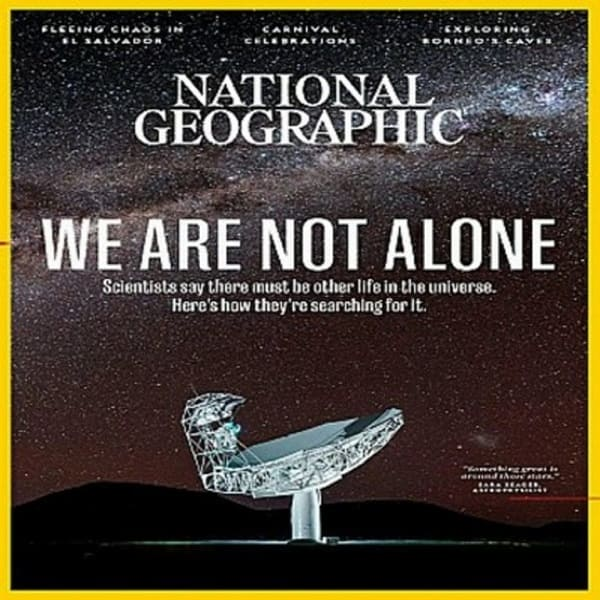 copertina We Are Not Alone National Geographic