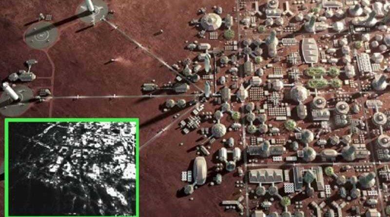 Immagini satellitari mostrano una base umana sulla superficie di Marte