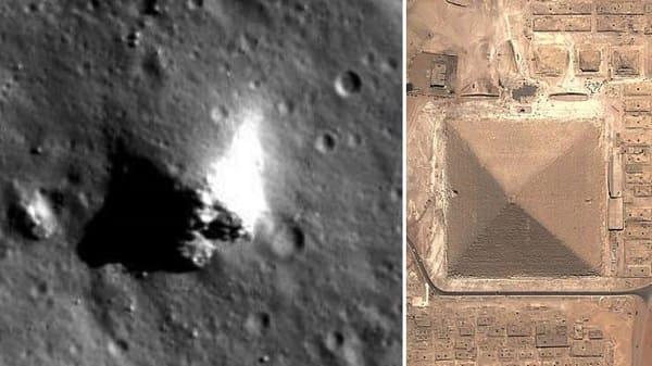 Pyramide auf dem Mond