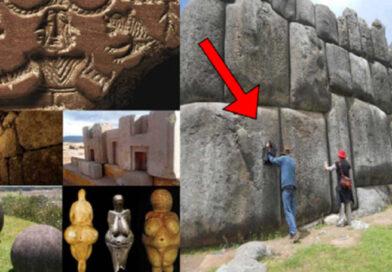 Immagini di antichi megaliti e pietre di forma perfetta che sfidano la logica