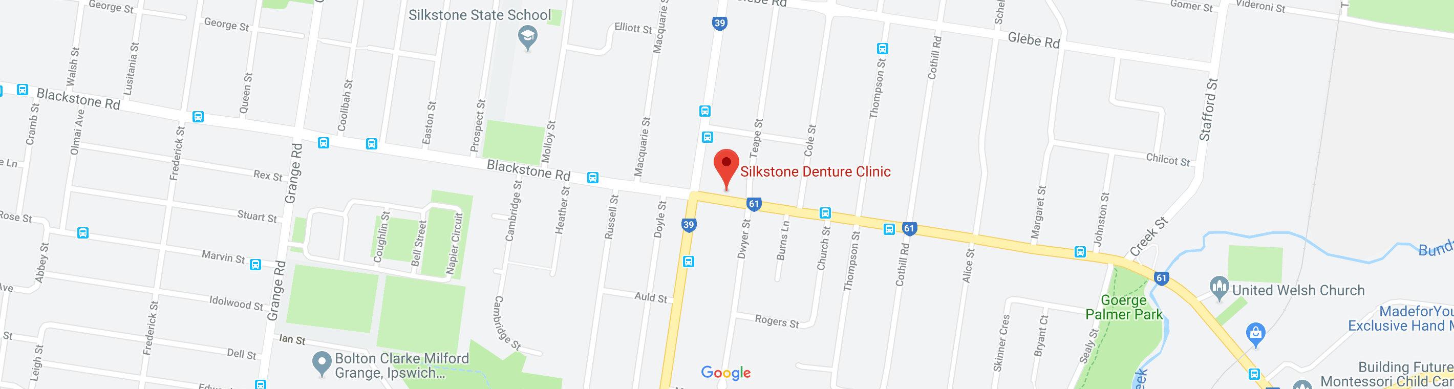 View Silkstone Denture Clinic location