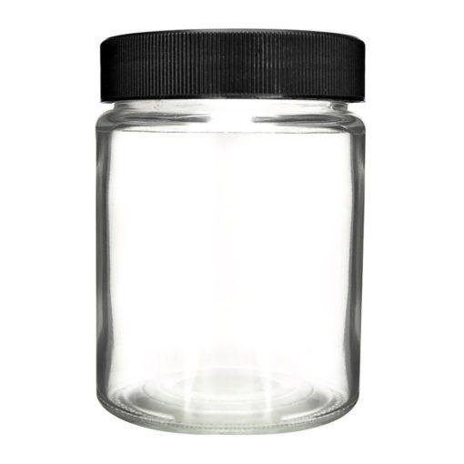 Glass Jar black Screw Lids