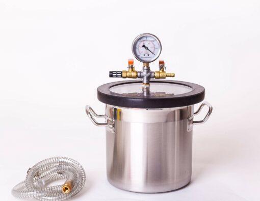 8L Vacuum Degassing Chamber Stainless Steel