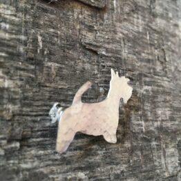 Chilli Designs scottie dog brooch