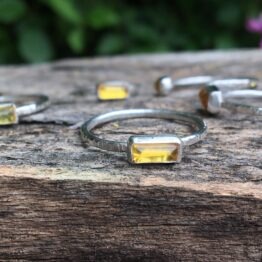 amber ring Chilli Designs