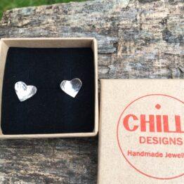 heart studs Chilli Designs