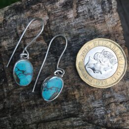 Chilli Designs turquoise drop earrings