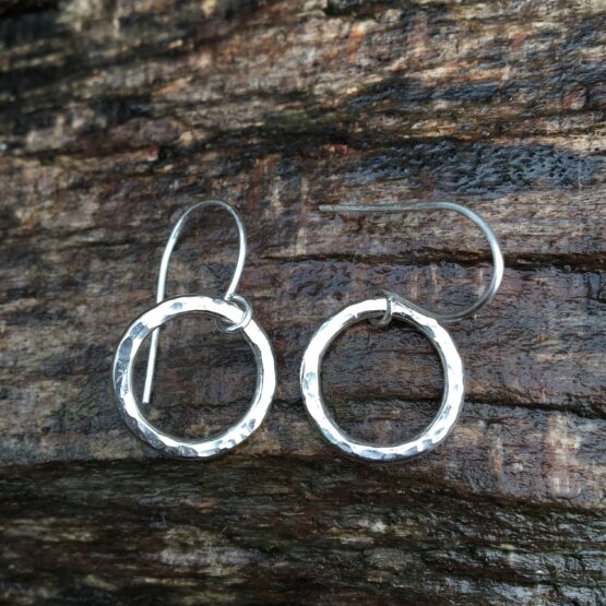 Chilli Designs smallest hammered drop earrings