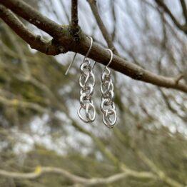 Chilli Designs link drop earrings