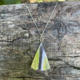 Chilli Designs curved triangle pendant necklace