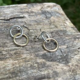 Chilli Designs gold silver drop earrings
