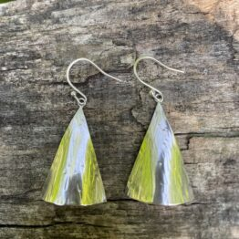 Chilli Designs large triangle drop earrings