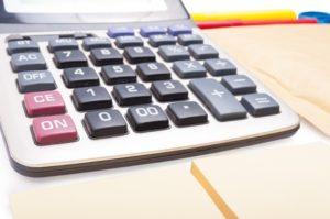 Close-up of calculator