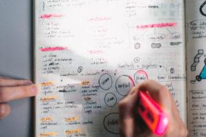 Full agenda or notebook