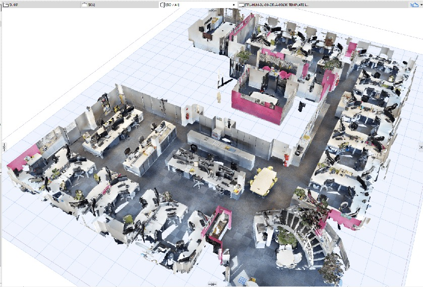 Virtual tour in Scene3D CAD system