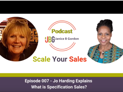 Podcast. What is specification sales and recent trends in the industry?