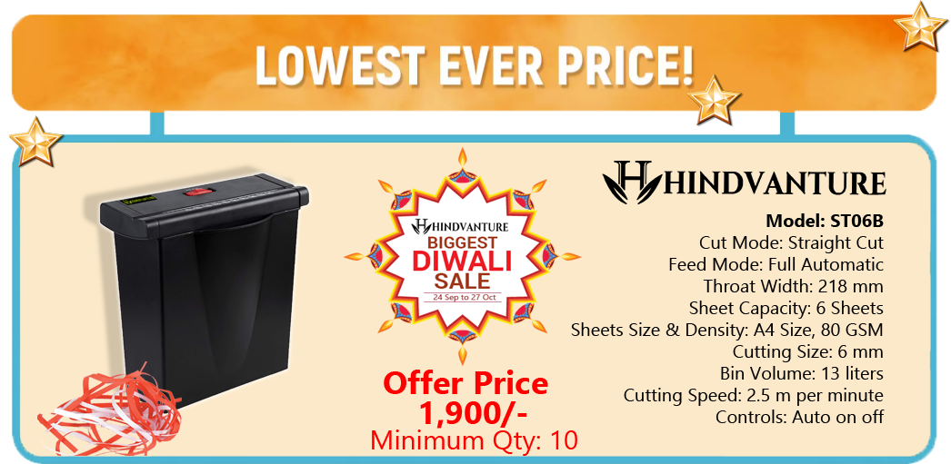 paper shredder machine diwali offer