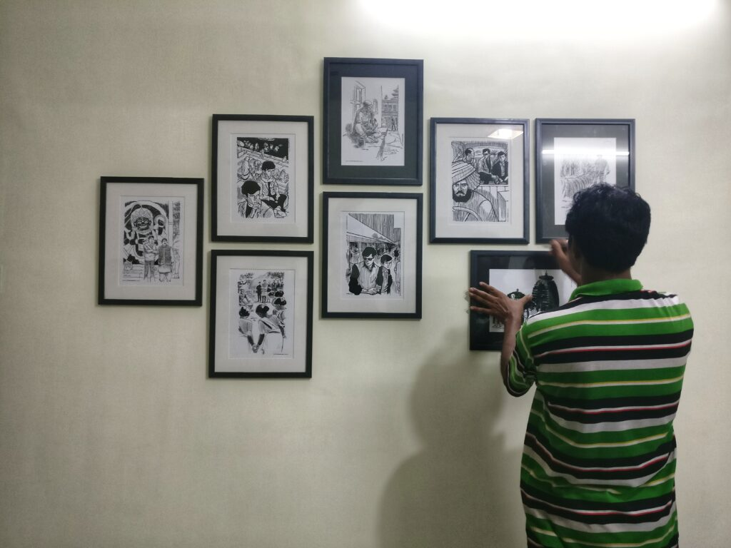 Putting up the Feluda wall
