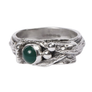 Totem Ring: With Green Onyx
