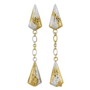 Lantern Drop Earrings With Vermeil