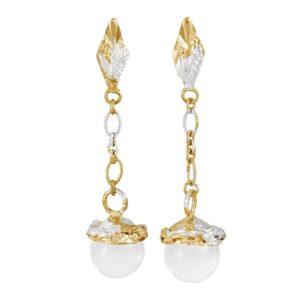 Micro Globo Quartz Earrings