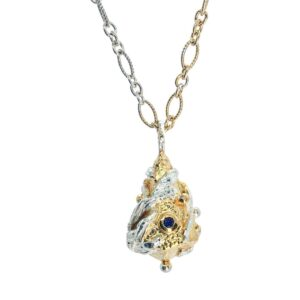 Small Lantern Necklace With Gold Plated Highlights
