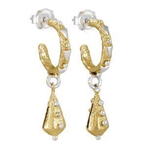 Geo Lantern Hoop Earrings