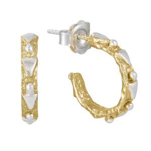 Geo Hoop Earrings