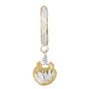 Medallion Hoop Single