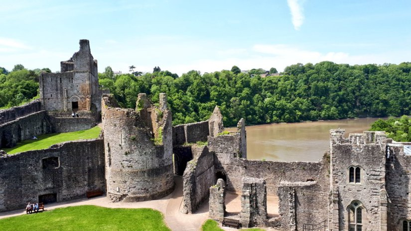 Chepstow Castle features in the new book by Mark Rees