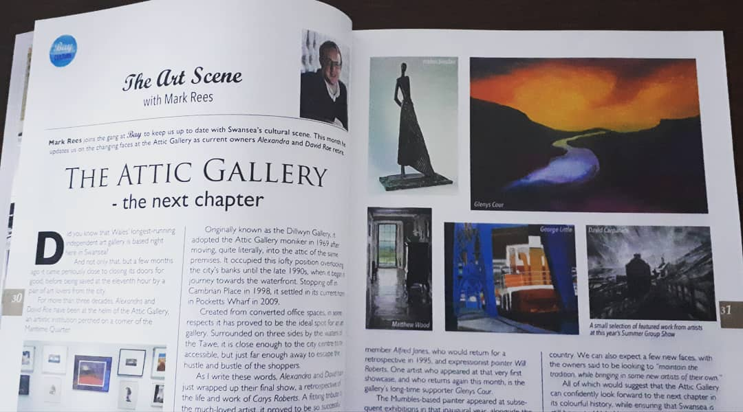 Mark Rees' Art Scene in Swansea's The Bay magazine