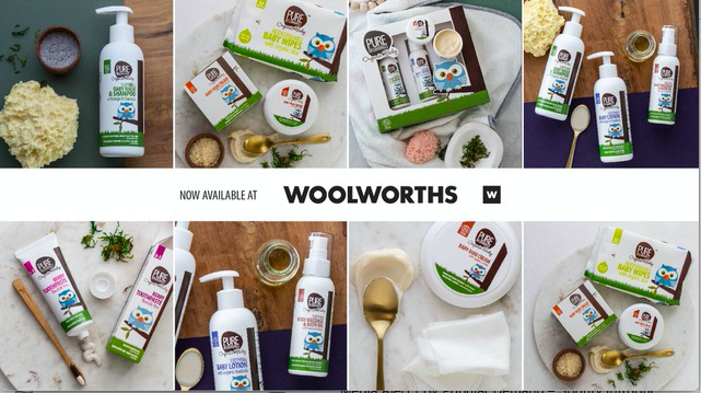 Pure Beginnings now available in Woolworths Food stores countrywide