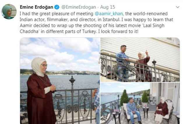 Aamir Khan Faces Heat Back Home on Meeting First Lady of Turkey