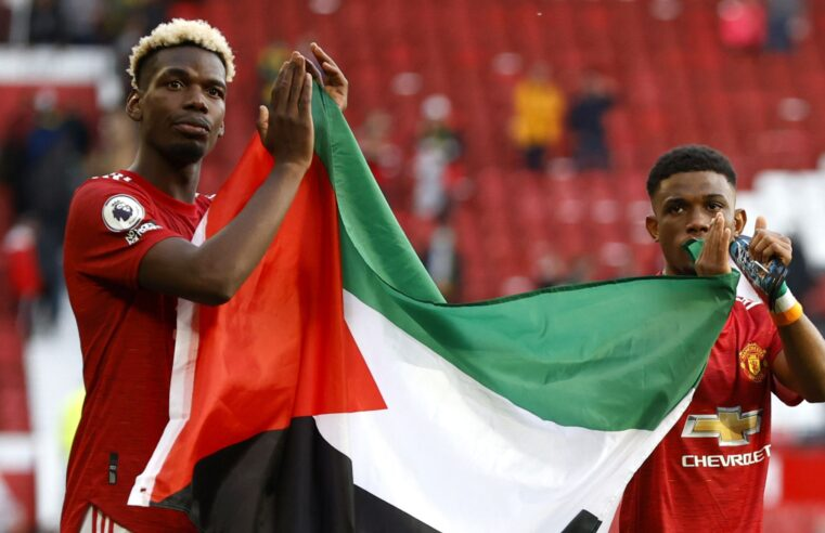 Manchester United stars Paul Pogba, Amad Diallo wave Palestinian flag amid genocide in Gaza