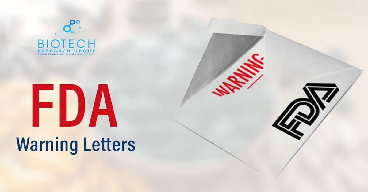 FDA Warning Letters