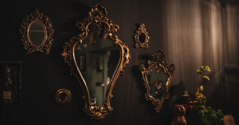 Mirror in an antiques shop