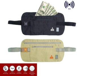 Riñonera de seguridad para pasaportes y dinero (RFID)