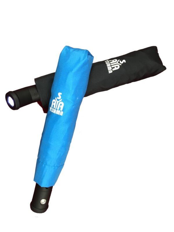 Paraguas plegable automático con luz LED
