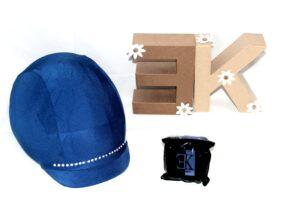 KLES´S Funda para Casco de Equitación Diseño Tira Brillantes. Equestrian Hat Cover.
