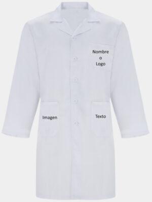 Bata de Laboratorio Unisex Personalizadas para Medico Enfermera Uniformes