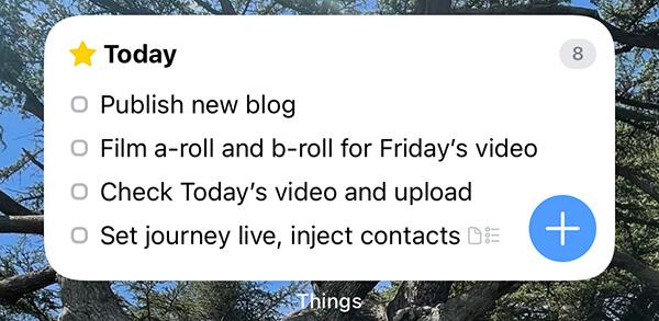 Things iOS widget