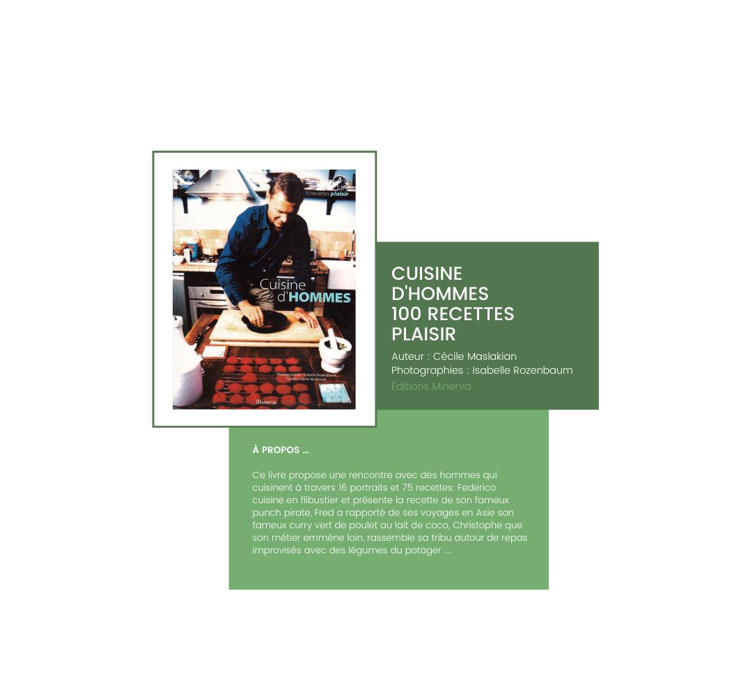 Cecile Maslakian copywriter Beaux Livres Cuisine d Hommes