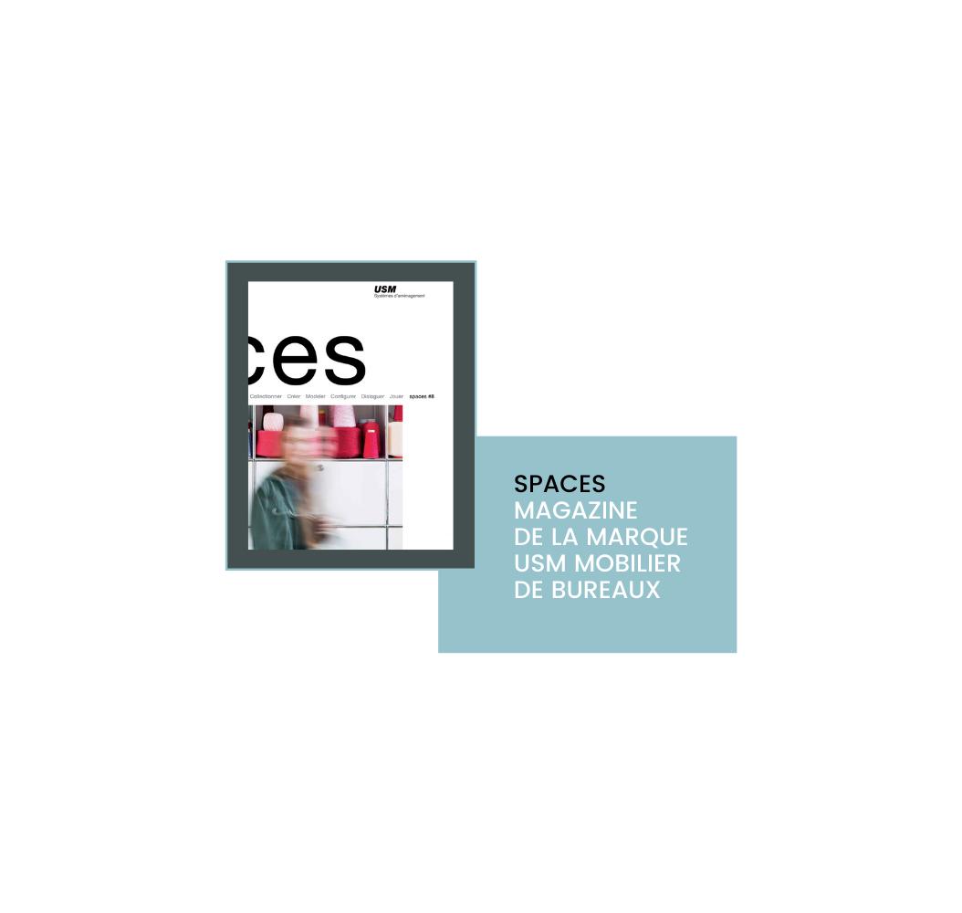 Cecile Maslakian copywriter magazine de marques USM Spaces couverturе